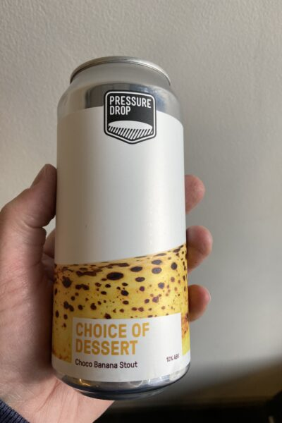 Choice of dessert imperial milk stout by Pressure Drop Brewing.