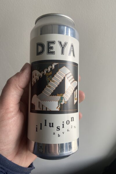 Illusion New England IPA by Deya Brewing Company.