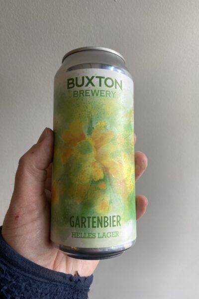 Gartenbier Helles Lager by Buxton Brewery.