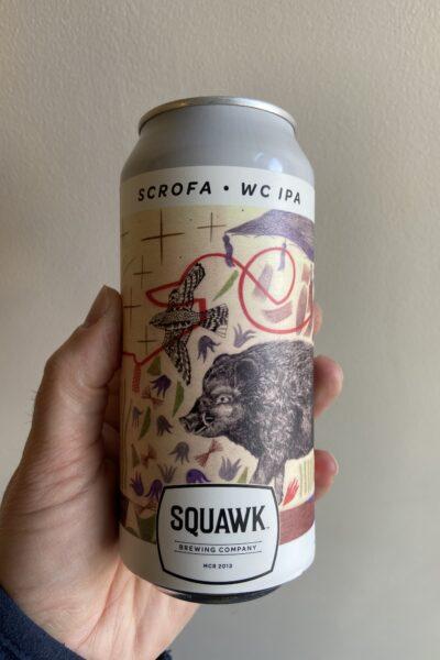 Scrofa West Coast IPA by Squawk Brewing Company.