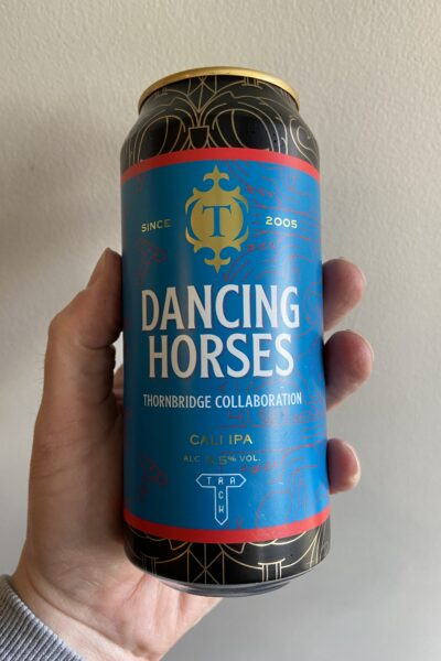 Dancing Horses West Coast IPA by Thornbridge Brewery x Track Brewery.
