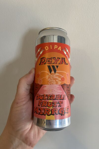 Suitable Fruit Mirage Imperial IPA by Deya Brewing Company.