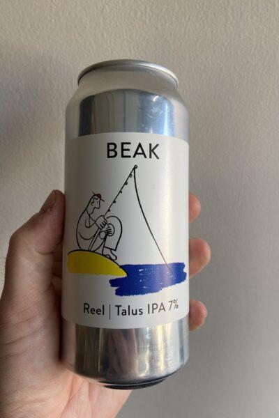 Reel New England IPA by The Beak Brewery.