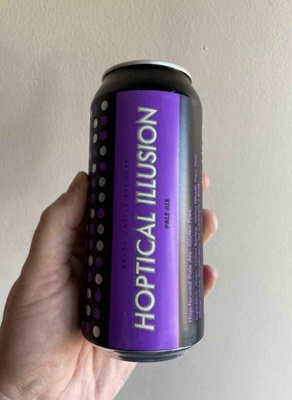 Hoptical Illusion Gluten Free Pale Ale.