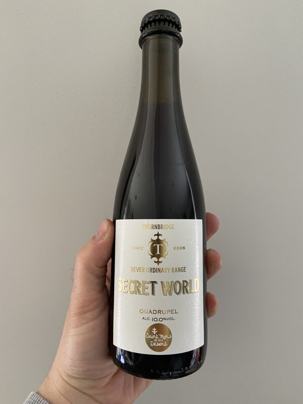 Secret World Belgian-style Quadrupel by Thornbridge Brewery x Saint Mars of the Desert.