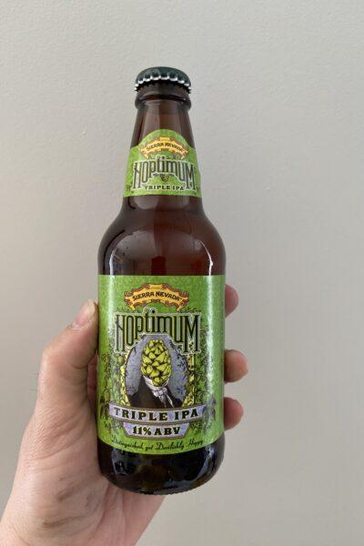 Hoptimum Triple IPA by Sierra Nevada Brewing Company.