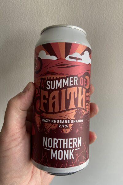 Summer of Faith Hazy Rhubarb Radler by Northern Monk.