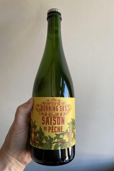 Saison de Peche by Burning Sky Brewery.