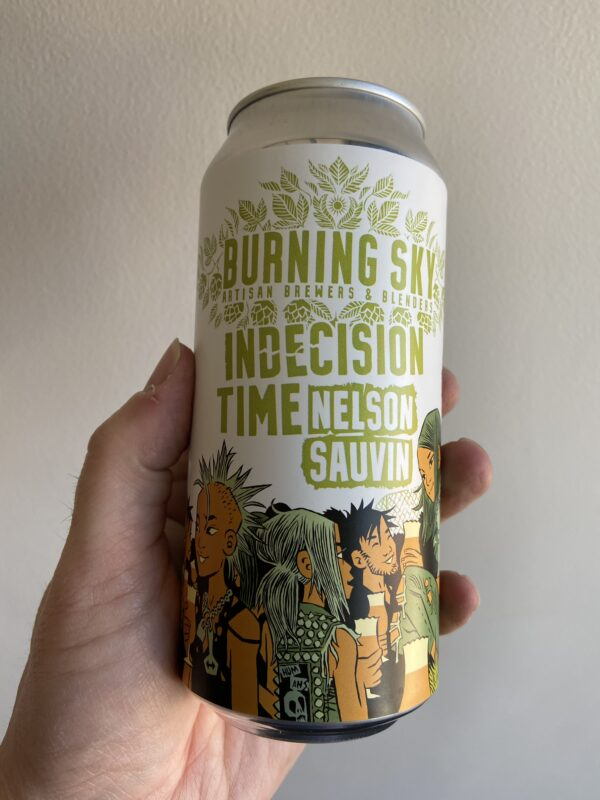 Indecision Time Nelson Sauvin Pale Ale by Burning Sky Brewery.
