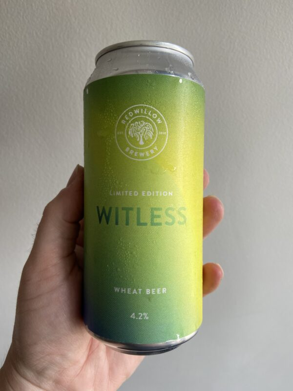 Witless Wheat Beer by RedWillow Brewery.