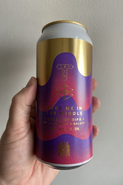 Meet Me In The Middle Gold Top DIPA by Track Brewing Company.