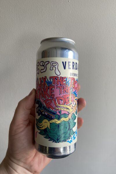 Buy the Ticket, Take the Ride Triple IPA by Deya Brewing Company x Verdant Brewing Co.