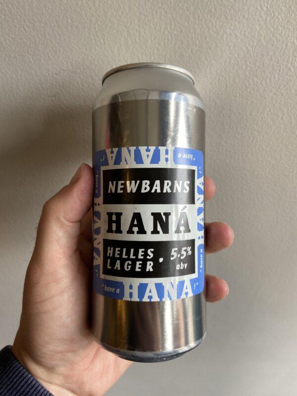 Hána Helles Lager by Newbarns Brewery.