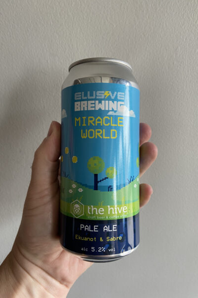 Miracle World Ekuanot & Sabro Pale Ale by Elusive Brewing.