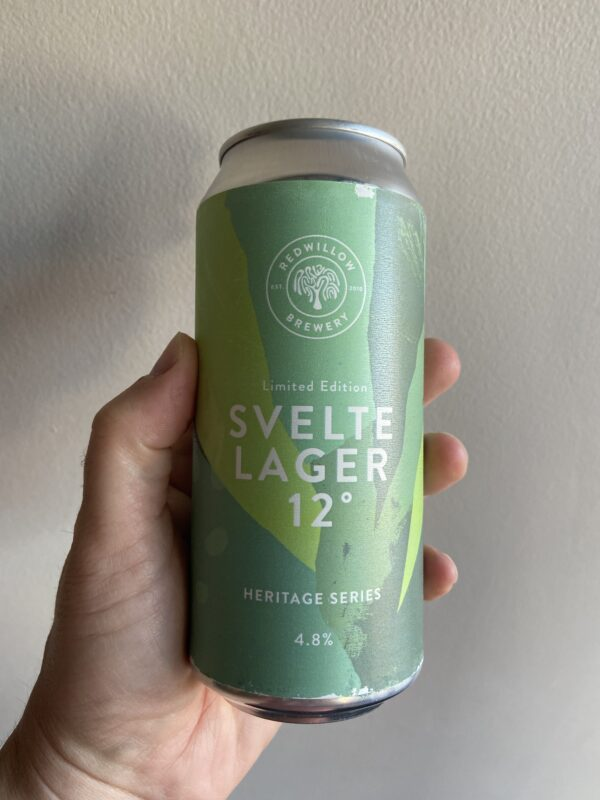 Svelte Lager 12° Czech Pilsner by RedWillow Brewery.