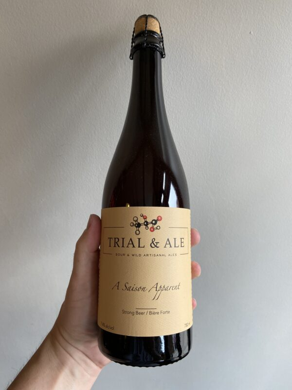 A Saison Apparent Wild Ale by Trial & Ale Brewing Company.