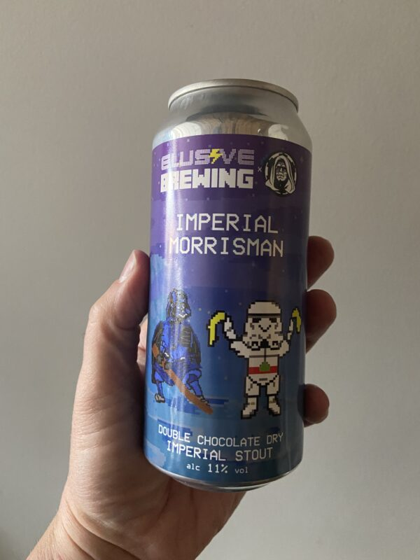 Imperial Morrisman Double Chocolate Stout by Elusive Brewing.