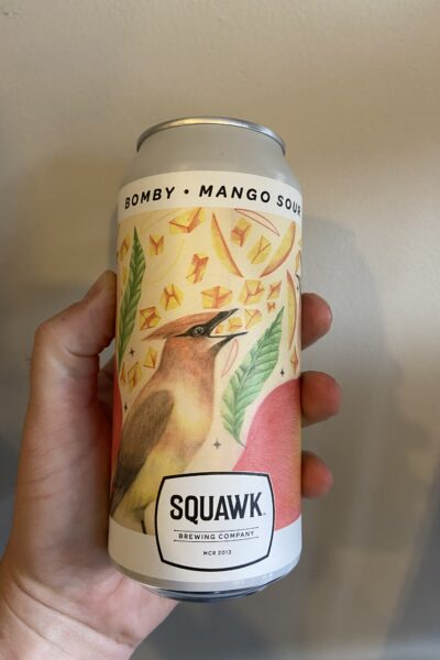 Bomby Mango Sour by Squawk Brewing Company.