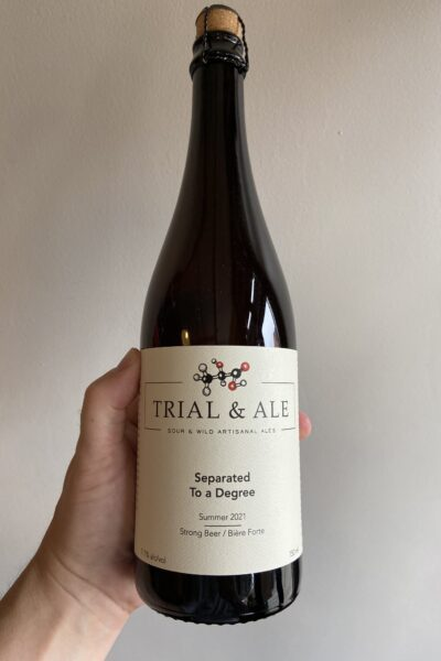 Separated to a Degree (Summer 2021) Mixed fermentation ale by Trial & Ale Brewing Company.