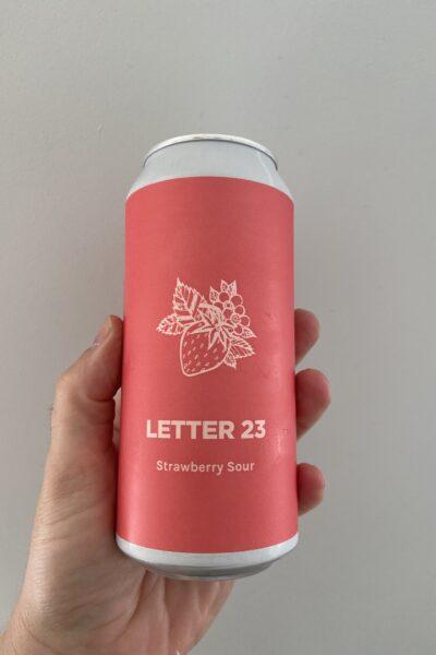 Letter 23 Strawberry Sour by Pomona Island Brew Co.