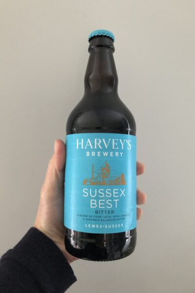 Sussex Best Bitter by Harvey's Brewery.